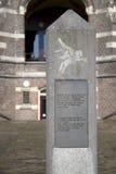 Mémorial de guerre à l'ancien hôpital de St Elizabeth à Arnhem Photographie stock libre de droits