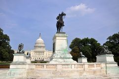 Ulysse S. Grant Memorial devant le capitol, Washington DC Photographie stock libre de droits