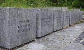 Mémorial de guerre dans Grahovo Photo stock