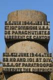 Mémorial de guerre dans Sainte simple Eglise dans Normandie Photo libre de droits