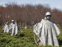 Mémorial de Guerre de Corée image stock
