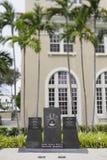 Mémorial de guerre de Miami Beach photos stock