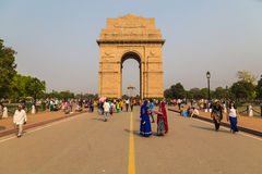 Mémorial de guerre de porte d'Inde à Delhi Photographie stock libre de droits