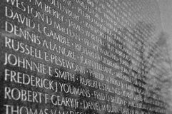 Mémorial de guerre de Vietnam Photo libre de droits