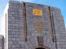 Mémorial de guerre, Gibraltar Photo stock