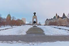 Mémorial de guerre national, Ottawa, Canada images stock