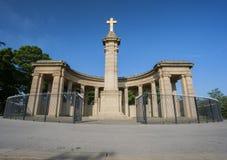 Mémorial de guerre semi circulaire Photos stock