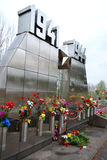 Mémorial de guerre sur des tailles de Sinyavino Images libres de droits