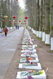 Mémorial de guerre sur des tailles de Sinyavino Photos libres de droits