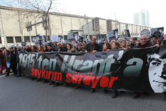 Mémorial de Hrant Dink à Istanbul Image stock