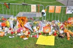 Mémorial de Jack Layton en côte du Parlement, Ottawa Photo stock