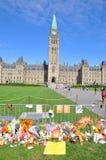 Mémorial de Jack Layton en côte du Parlement, Ottawa Photos stock