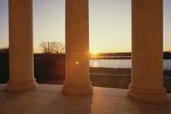 Mémorial de Jefferson au coucher du soleil Image libre de droits