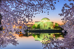 Mémorial de Jefferson au printemps Images libres de droits