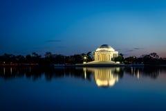 Mémorial de Jefferson la nuit image libre de droits