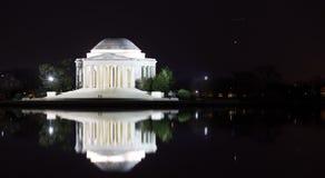Mémorial de Jefferson la nuit Photographie stock libre de droits