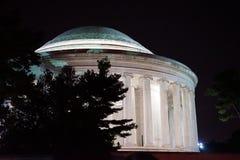 Mémorial de Jefferson la nuit photos libres de droits