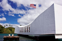 Mémorial de l'Arizona dans Pearl Harbor images stock