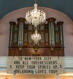 Mémorial de la chapelle 9/11 de New York City St Paul Photographie stock