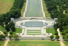 Mémorial de la deuxième guerre mondiale dans le Washington DC, Etats-Unis images stock