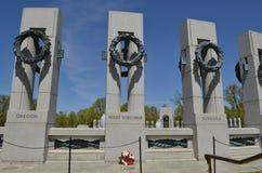 Mémorial de la deuxième guerre mondiale - la Virginie Occidentale, Washington DC photo libre de droits