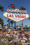 Mémorial de Las Vegas au signe bienvenu historique Image stock
