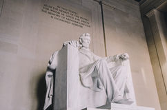 Mémorial de Lincoln, Washington DC photographie stock