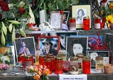 Mémorial de Michael Jackson Images libres de droits