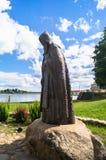 Mémorial de Nil Stolobensky de révérend dans Nilus Monastery sur le lac Seliger, région de Tver Russie Images stock