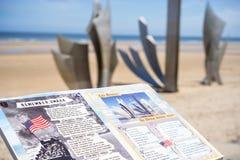 Mémorial de plage d'Omaha, France de la Normandie photographie stock