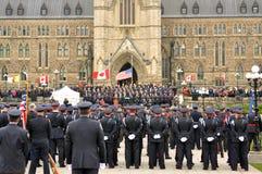 Mémorial de police à Ottawa Image stock