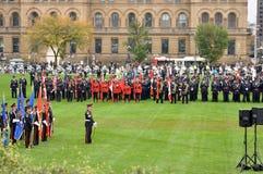 Mémorial de police à Ottawa Photo stock