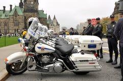 Mémorial de police en septembre 26 d'Ottawa Image stock
