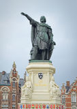 Mémorial de politicien flamand 13-14 siècles Jacob van Artevelde Image stock