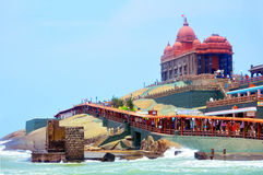 Mémorial de roche de Vivekananda Image libre de droits
