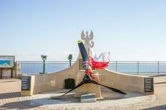 Mémorial de Sikorski sur le point de l'Europe chez le Gibraltar, territoire d'outre-mer britannique photographie stock libre de droits