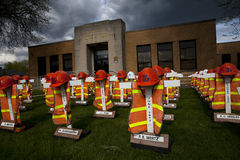 Mémorial de travailleur de PENNDOT Images libres de droits
