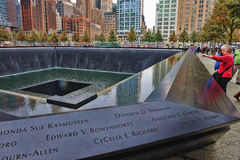 Mémorial de WTC 9-11 Photo libre de droits