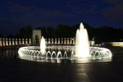 Mémorial de WW II la nuit Photographie stock libre de droits