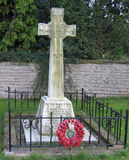 Mémorial de WWI avec des pavots image libre de droits