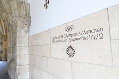 Mémorial des Jeux Olympiques 1972 Photos libres de droits