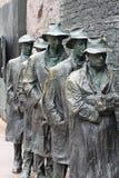 Mémorial du Breadline FDR de dépression Photos libres de droits