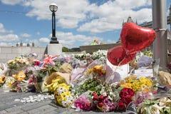 Mémorial du sud de banque aux victimes du terrorisme Photographie stock
