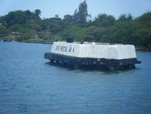 Mémorial du Vestal AR-4 d'USS, Pearl Harbor Hawaï photos stock