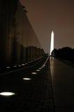 Mémorial du Vietnam la nuit Photos libres de droits