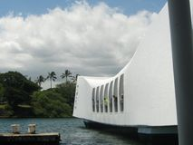 Mémorial et Ford Island d'USS Arizona Image stock