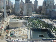 Mémorial et musée nationaux du 11 septembre au site de World Trade Center Images stock