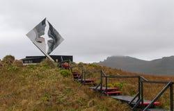 Mémorial et promenade chez le Cap Horn, Tierra Del Fuego, Chili photographie stock
