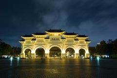 Mémorial Hall Taiwan de Chiang Kai-shek images libres de droits