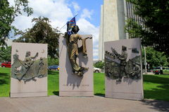 Mémorial honorant les femmes de la guerre, Albany, New York, 2015 Photos libres de droits